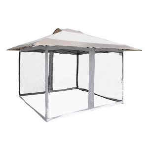 "12'7"" x 12'7"" Haven Pro Gazebo Kit with Screen Mesh Full Enclosure Set"